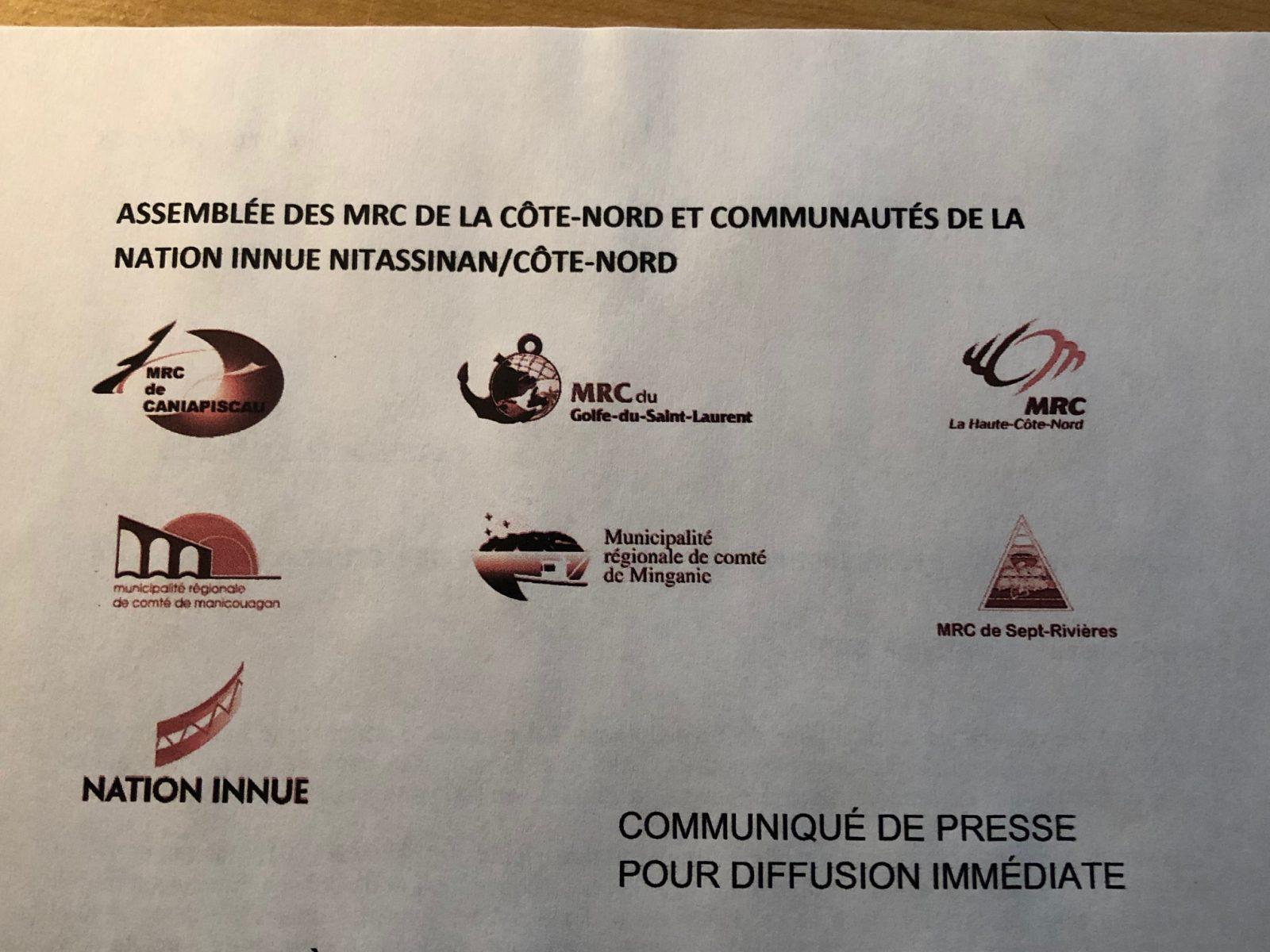 Les MRC et les Innus réclament un allègement des mesures