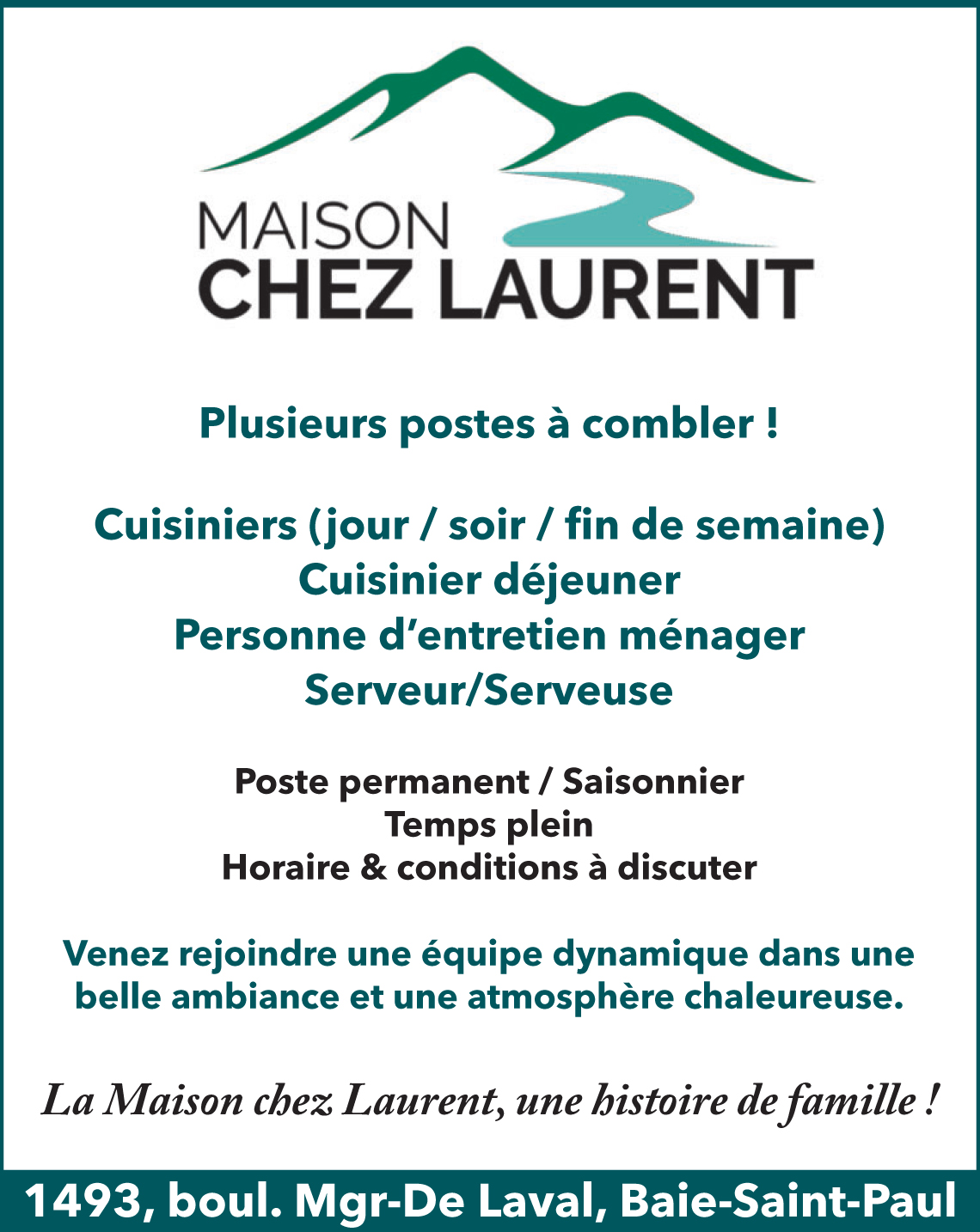 Logo de Cuisiniers / Personne d'entretien ménager / Serveur/serveuse