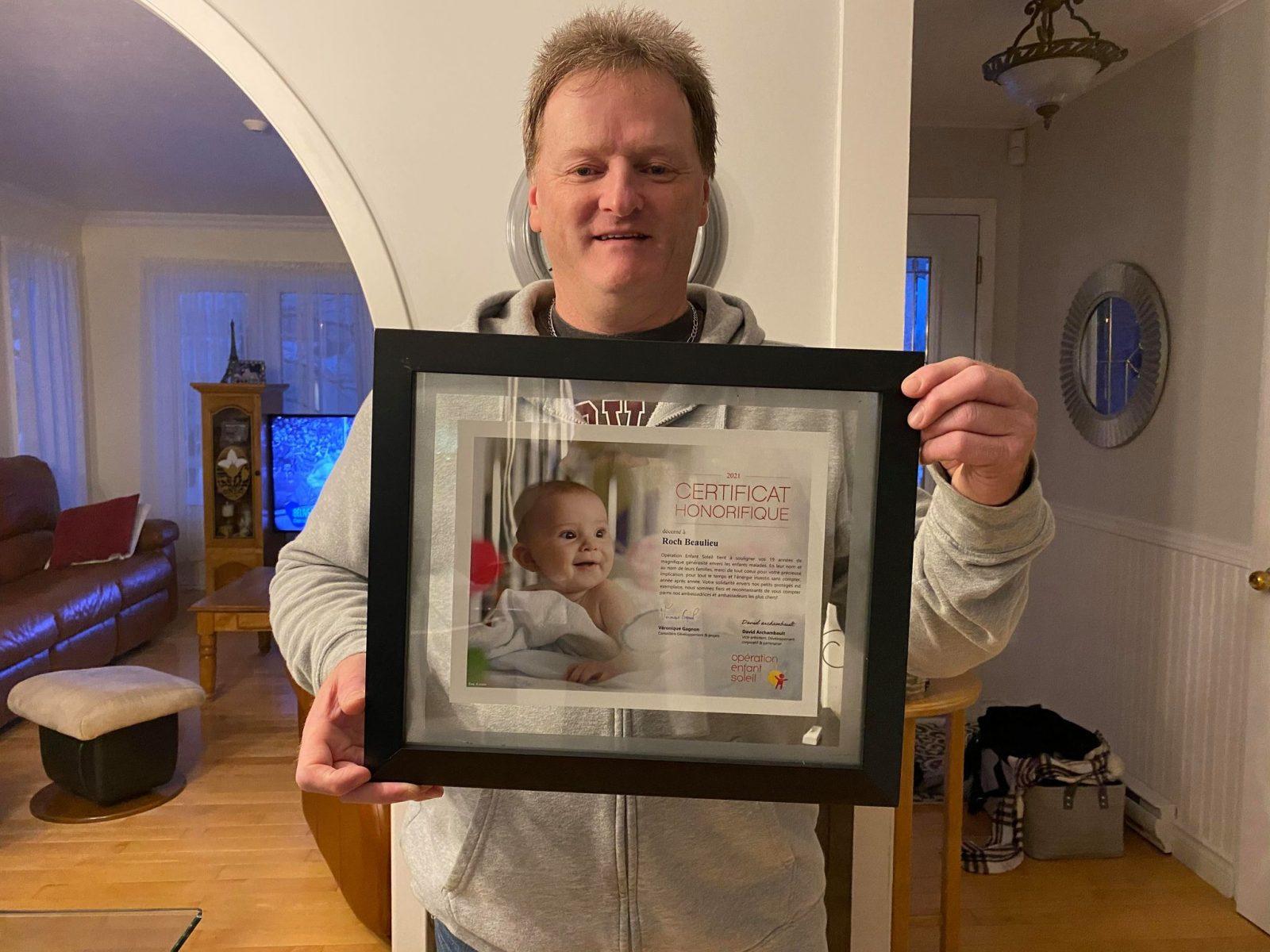 Opération Enfant Soleil : Roch Beaulieu, un homme porté par la cause